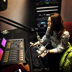 photo of Ouellet working in the studio