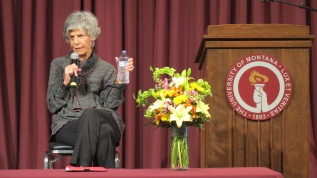 Susan Stamberg took questions from the audience after her talk.
