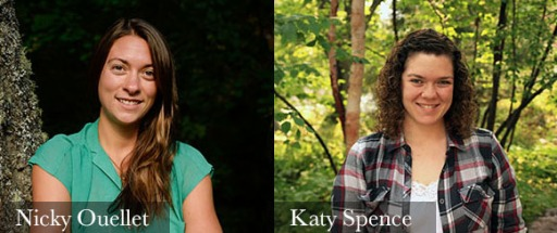 head shots of Nicky Ouellet and Katy Spence