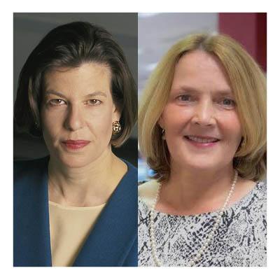 portrait photos of Deborah Potter and Cheryl Carpenter.