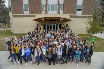 University of Montana, School of Journalism, High School Day, Group Photo by Adjunct Instructor Lido Vizzutti